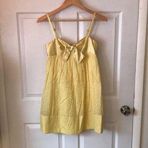 Yellow empire waist dress BCBG